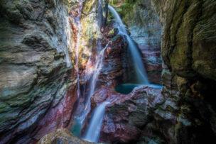 中津渓谷の雨竜の滝