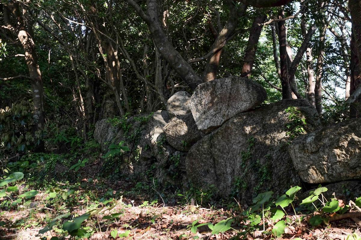 唐人駄馬遺跡の石垣