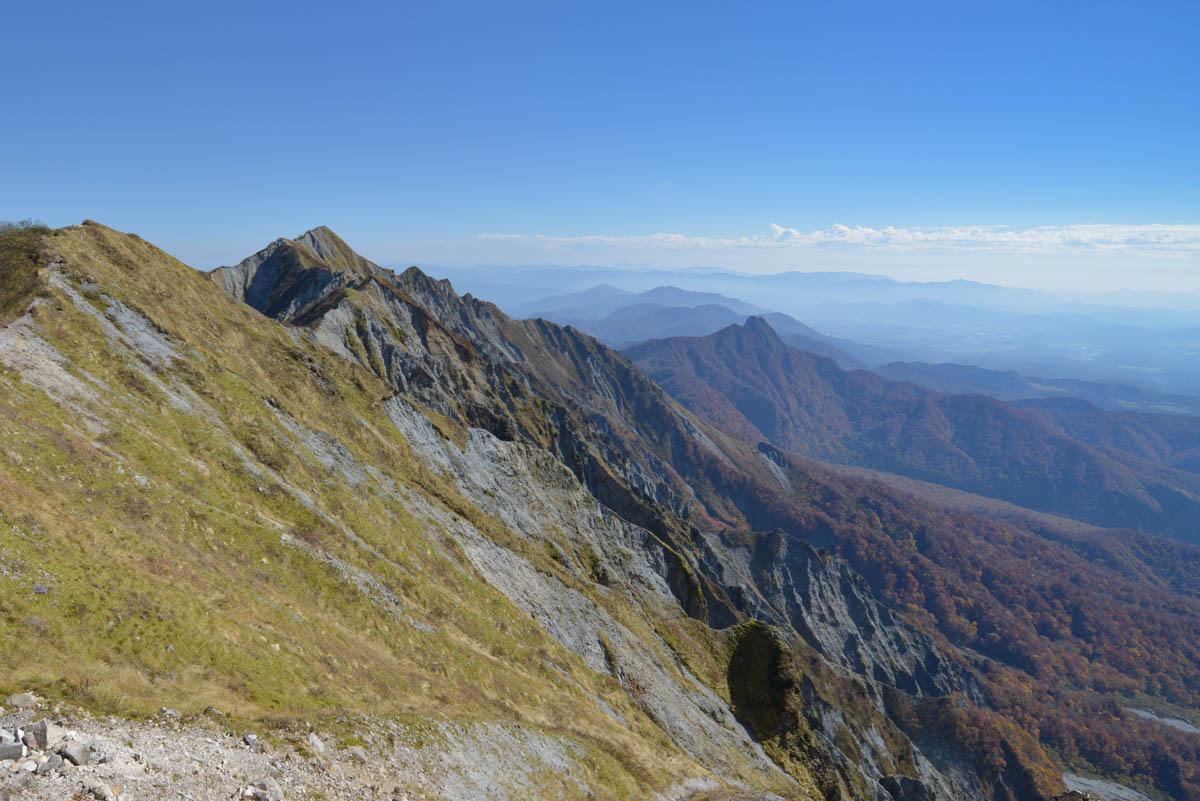 大山の弥山山頂からの景色