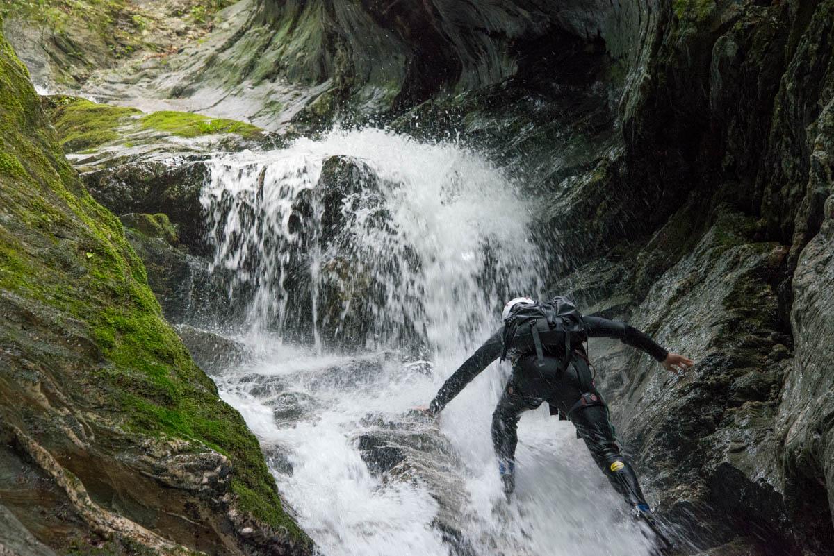安居渓谷の沢登り