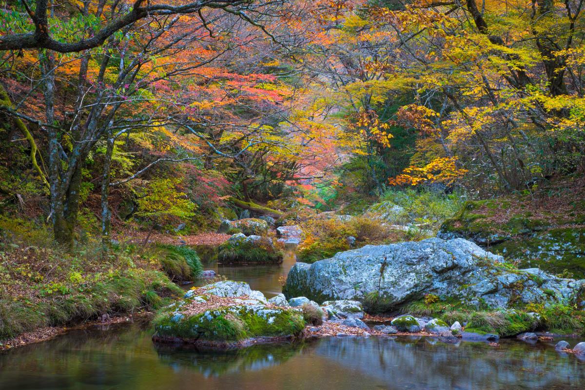 小田深山渓谷の渓谷美