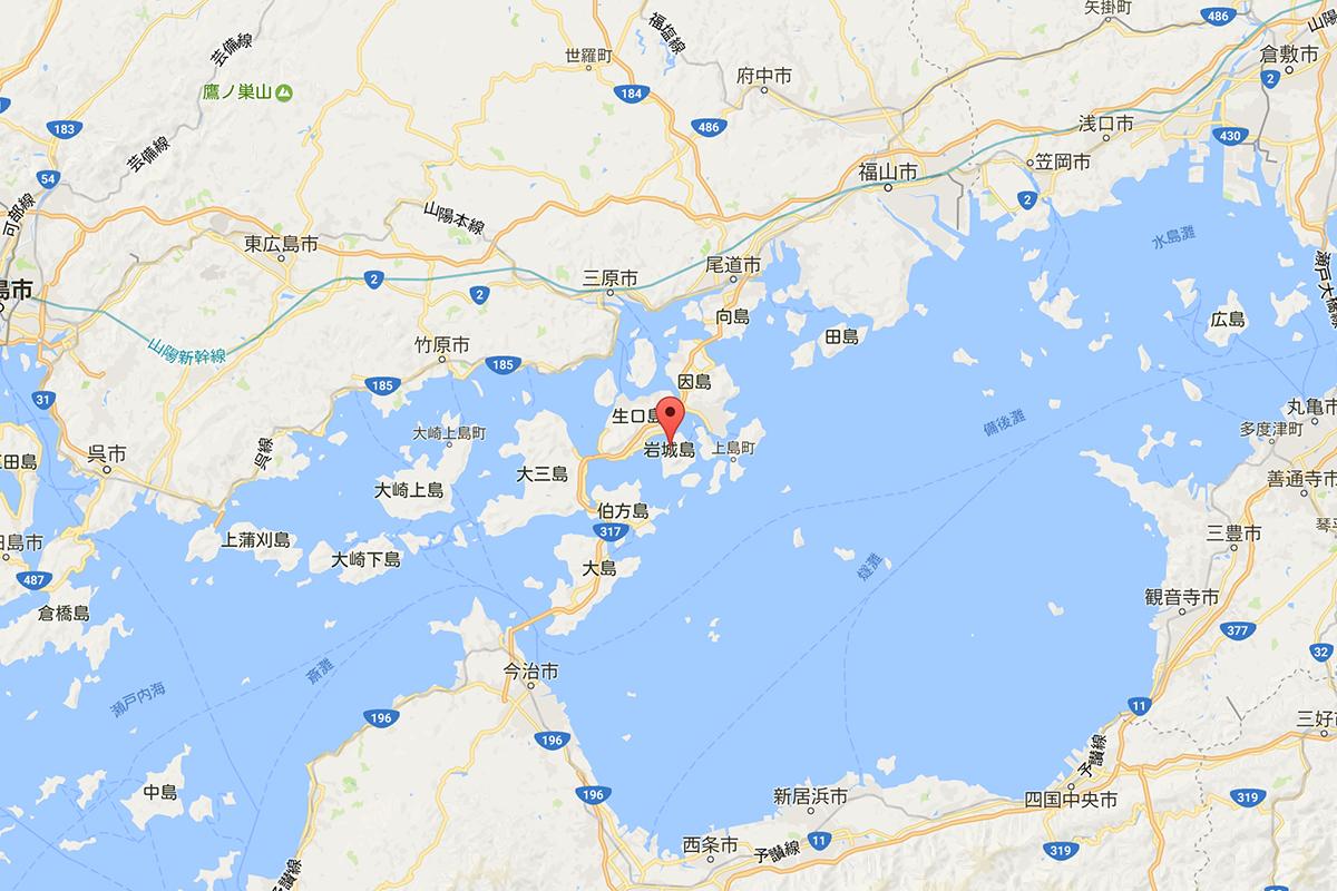 岩城島の場所