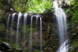 八多五滝の御来光の滝