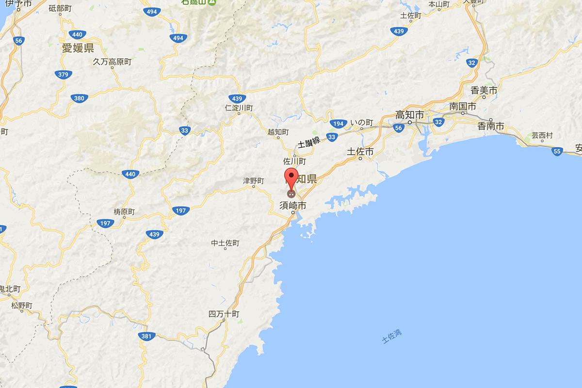 桑田山の雪割り桜の場所