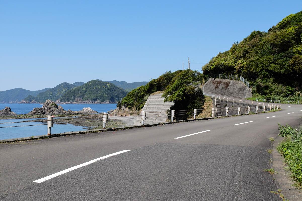 樫西海岸の道路