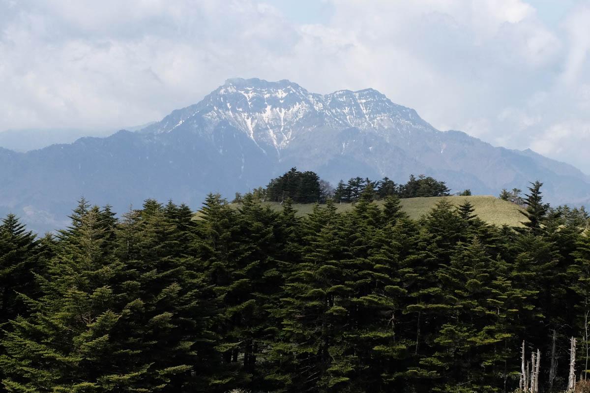 瓶ヶ森から望む石鎚山