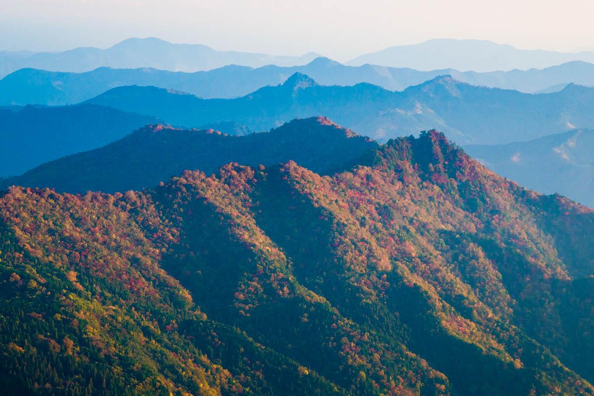 瓶ヶ森林道の紅葉