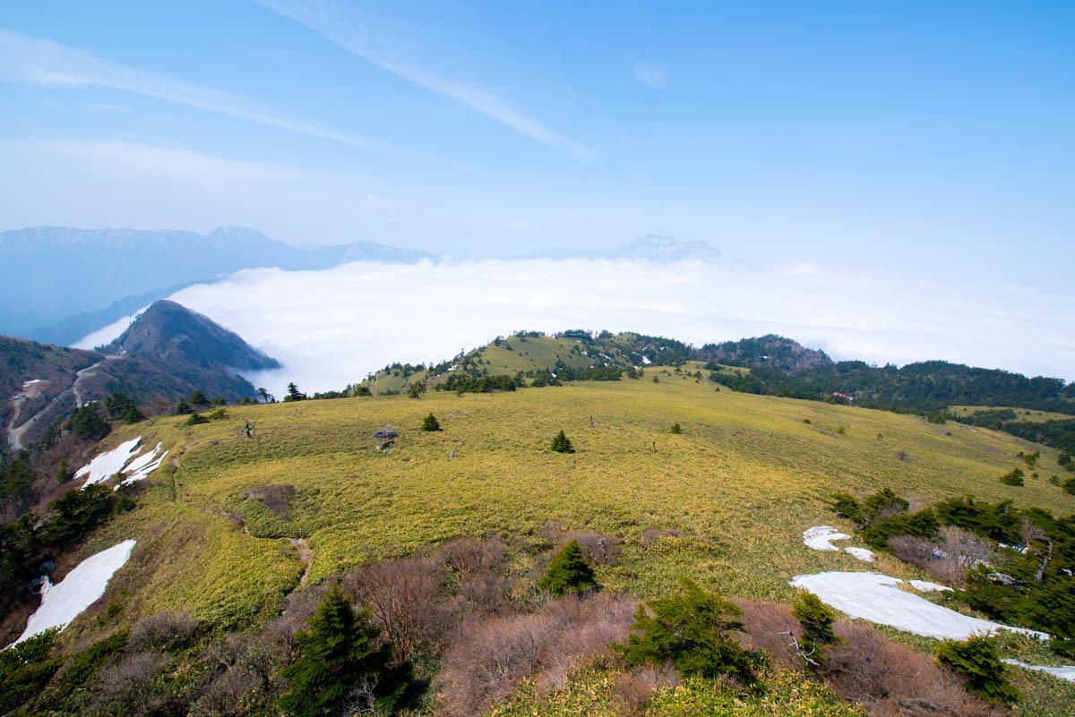 瓶ヶ森林道の雲海