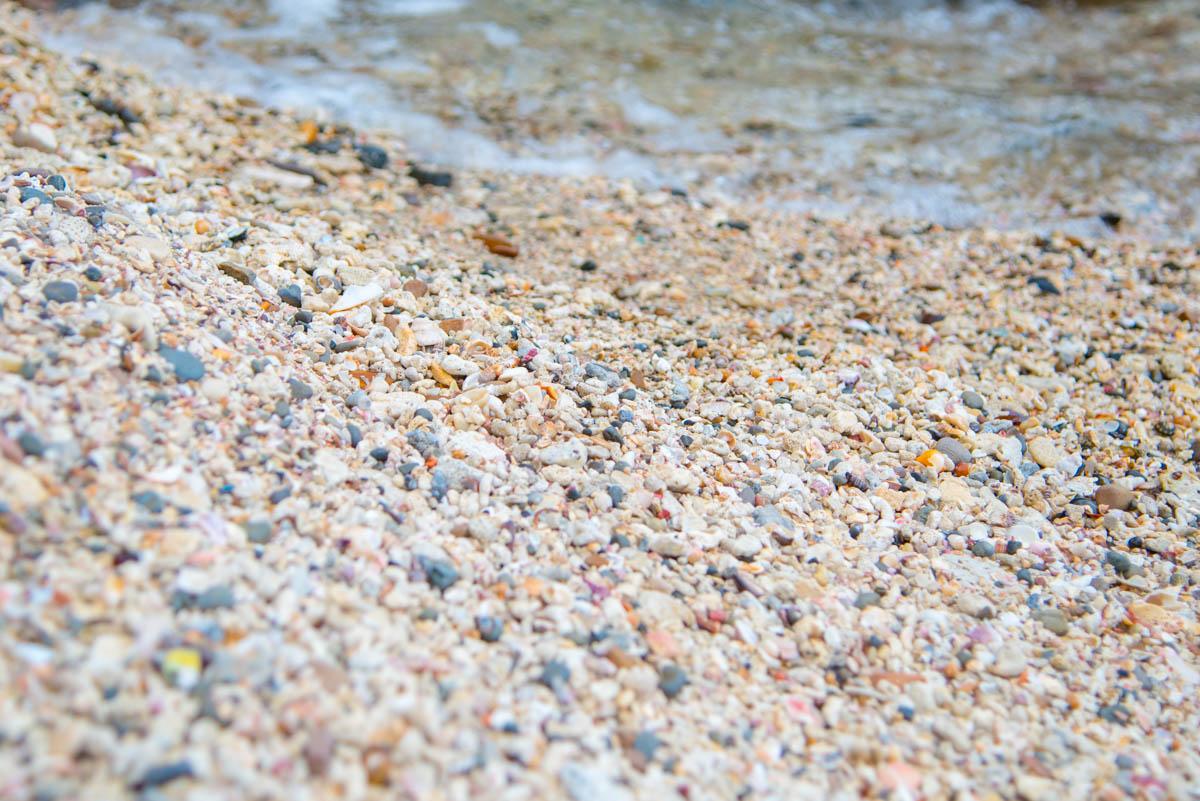 竜串海岸の砂浜