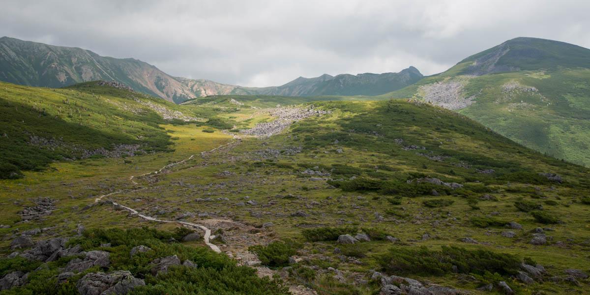 雲の平山荘ベランダからの景色