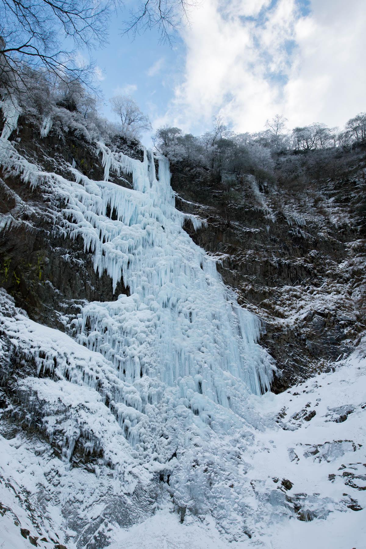 氷瀑の高瀑