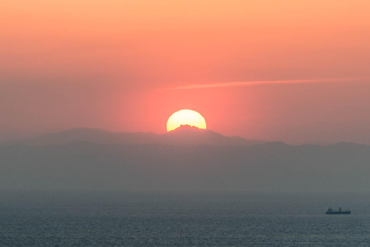 高茂岬の夕日
