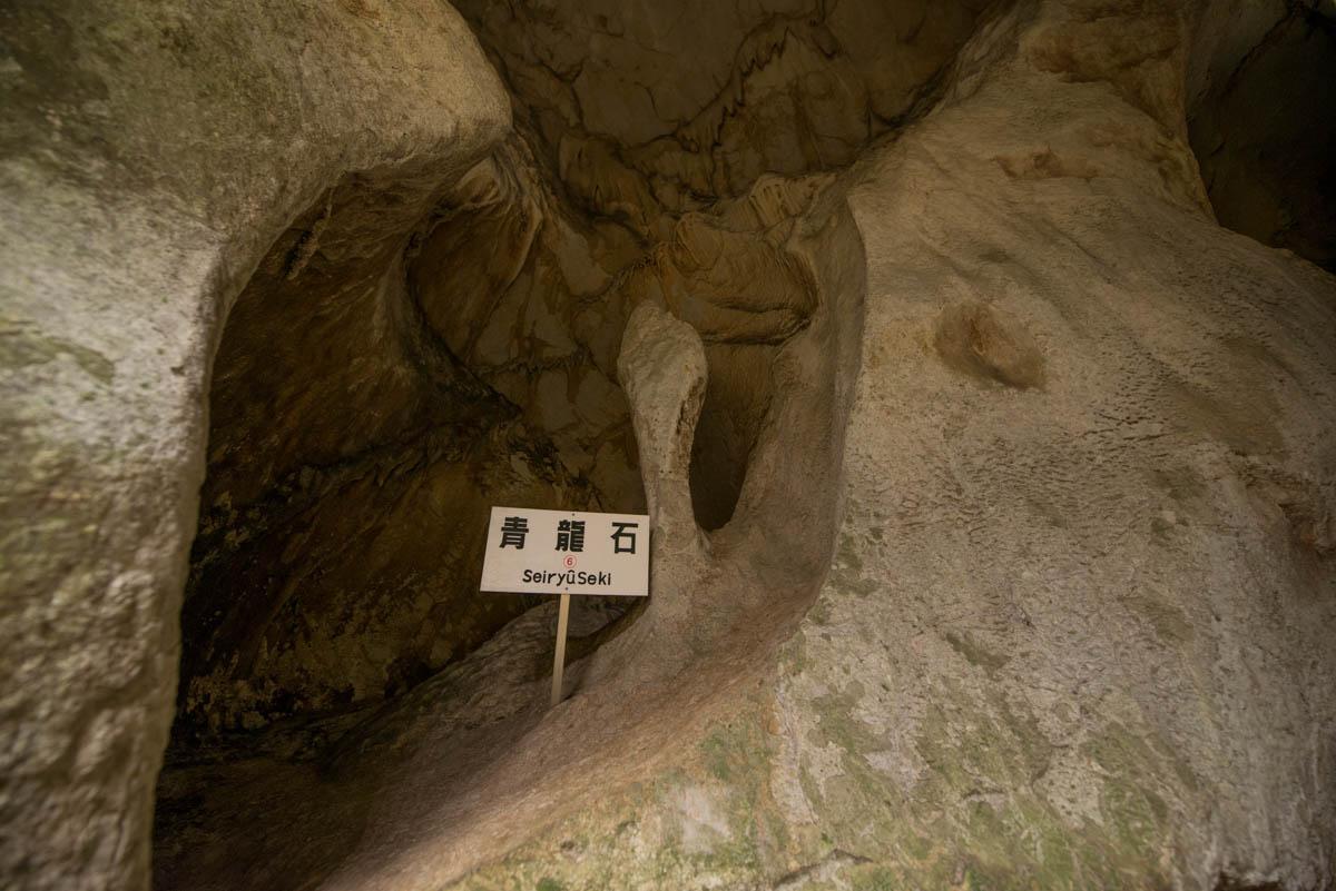 龍河洞の青龍石