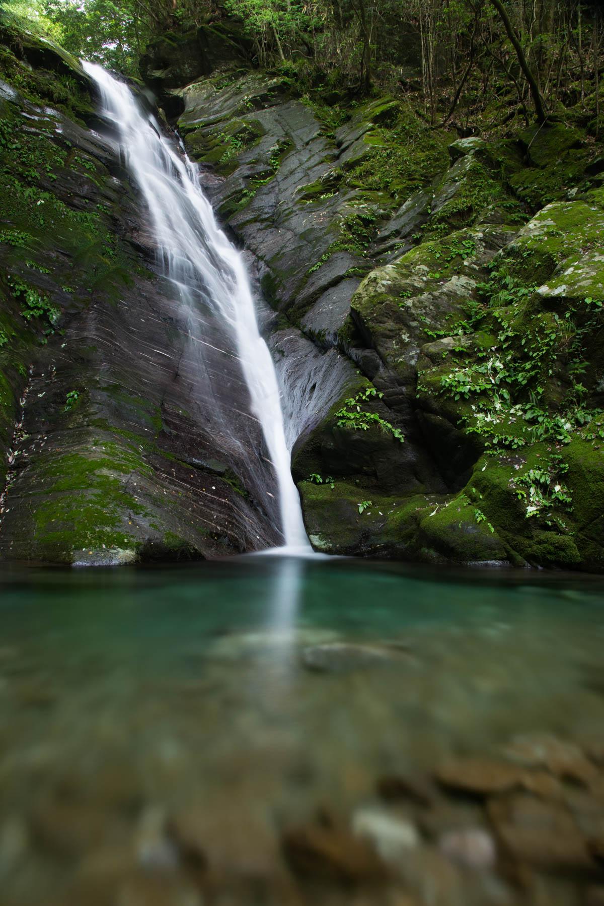 汗見川の名もなき滝