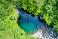 汗見川の美しい水流を満喫できる「升淵」