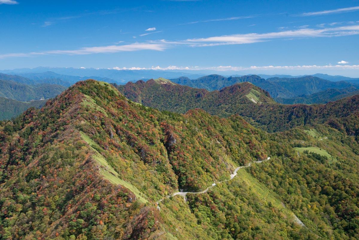 瓶ヶ森の女山山頂からの景色