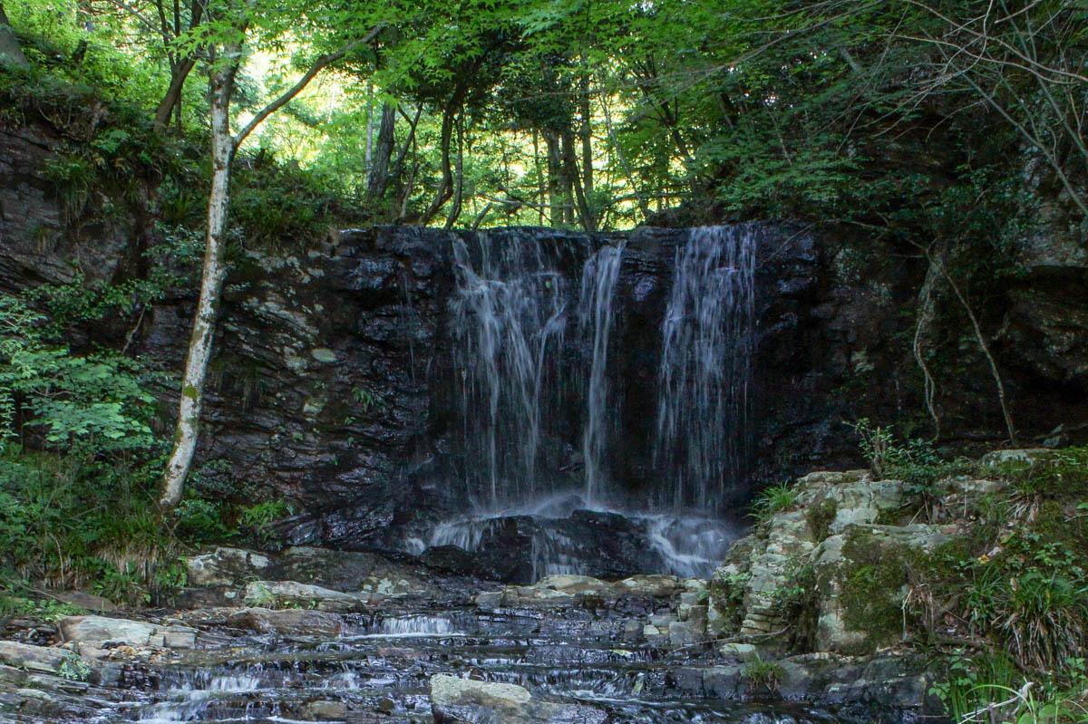 黒沢湿原のたびの尻滝