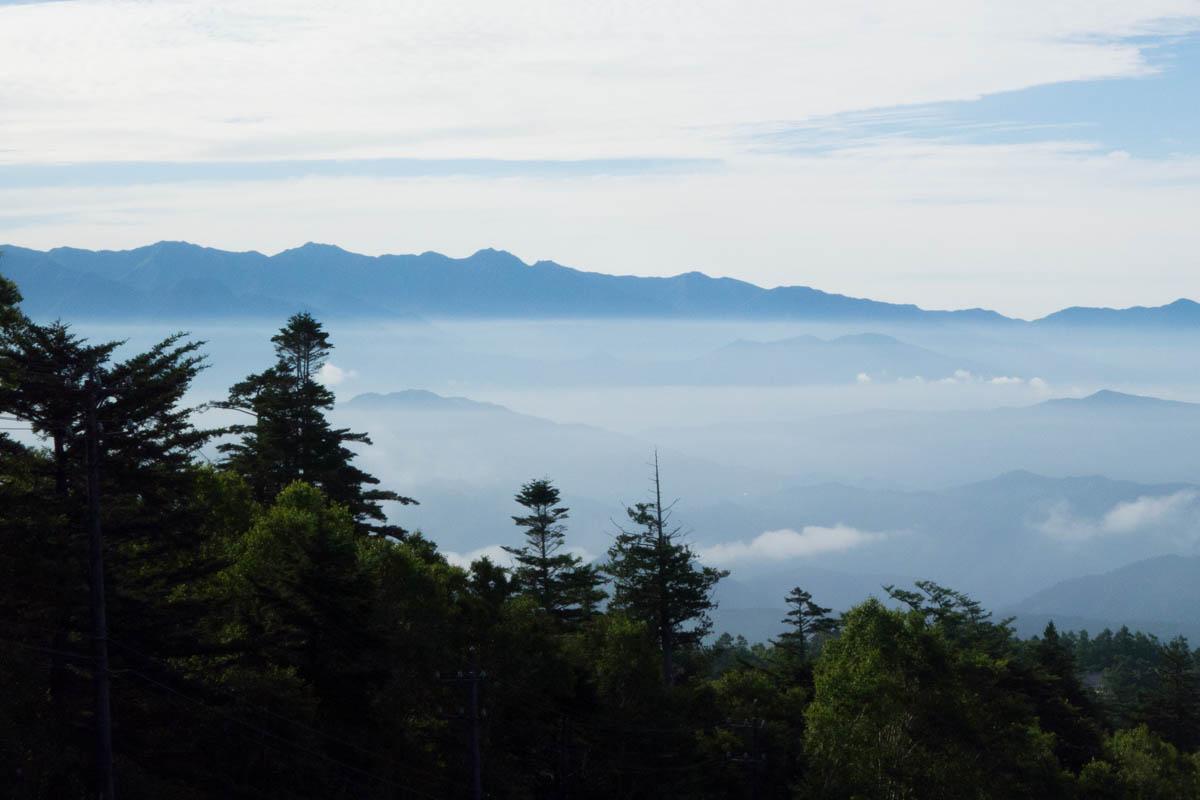 長野県の八ヶ岳連峰の景色