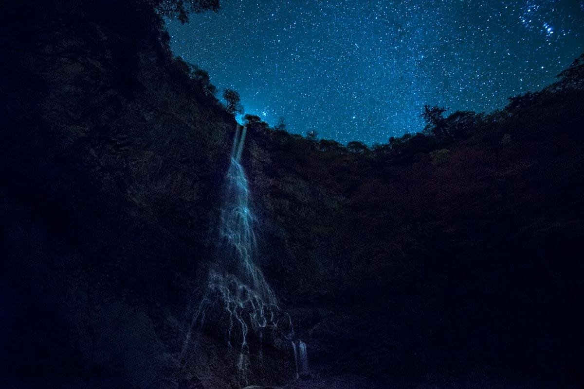 高瀑,夜,星空