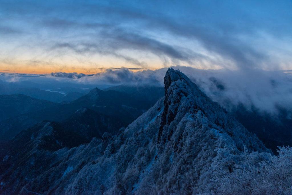 冬季の石鎚山