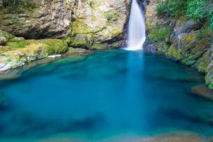 高知県のにこ淵 - 滝壺