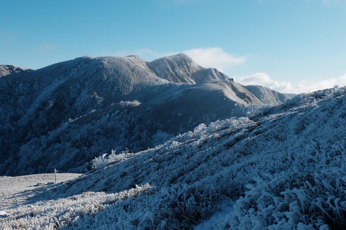 三嶺の冬の写真