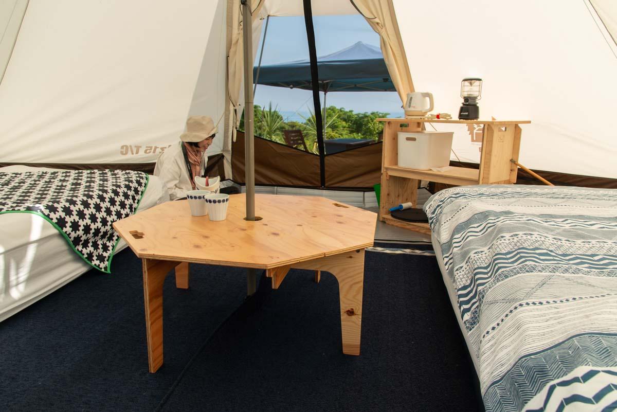テントの設備