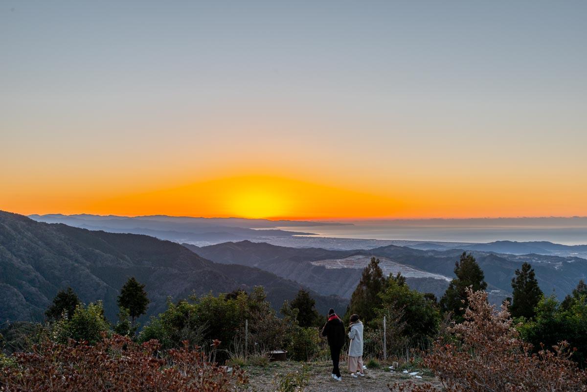 土佐山の初日の出